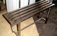 MetallProf.by. Продукция из металла и стекла. Скамейки.